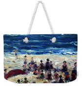 Flying A Kite At The Beach Weekender Tote Bag