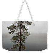 Foggy Lake Weekender Tote Bag