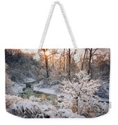 Forest Creek After Winter Storm Weekender Tote Bag