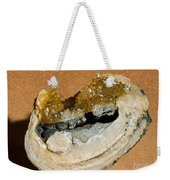Fossil Clam With Calcite Crystals Weekender Tote Bag