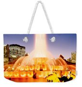 Fountain Lit Up At Dusk, Buckingham Weekender Tote Bag