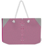 Fractal 28 Pink Gingham Shirt Weekender Tote Bag