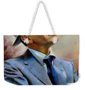 Frank Sinatra  Weekender Tote Bag by Ylli Haruni