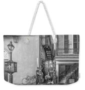 French Quarter Trio - Paint Bw Weekender Tote Bag