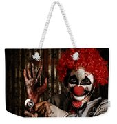 Frightening Clown Doctor Holding Amputated Hand  Weekender Tote Bag