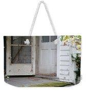 Front Door Of Abandoned House Weekender Tote Bag
