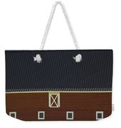 Front Of A Red Barn In A Flowering Weekender Tote Bag