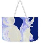 Frosty Blue Weekender Tote Bag