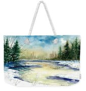 Frozen Creek Weekender Tote Bag