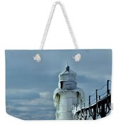 Frozen Lighthouse In Saint Joseph Weekender Tote Bag