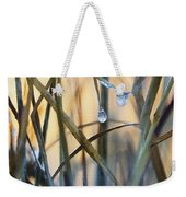 Frozen Raindrops Impasto Weekender Tote Bag