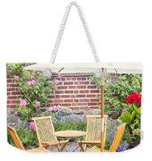 Garden Seating Area Weekender Tote Bag