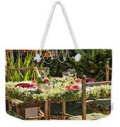 Garden Table Setting Weekender Tote Bag
