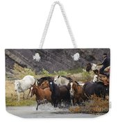 Gaucho With Herd Of Horses Weekender Tote Bag