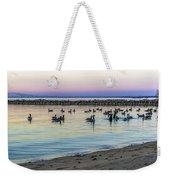 Geese At Dusk Weekender Tote Bag