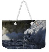 Gentoo Penguins Leaping Antarctica Weekender Tote Bag