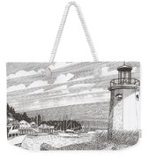 Lighthouse Gig Harbor Entrance Weekender Tote Bag