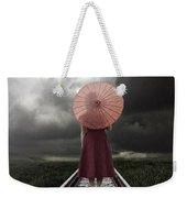 Girl On Tracks Weekender Tote Bag