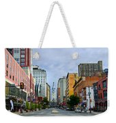 Give My Regards To Broad Street Weekender Tote Bag by Bill Cannon