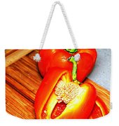 Glowing Peppers With Texture Weekender Tote Bag