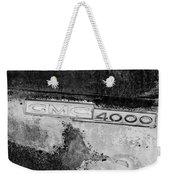 Gmc 4000 V6 Pickup Truck Side Emblem Weekender Tote Bag
