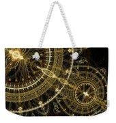 Golden Abstract Circle Fractal Weekender Tote Bag