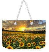 Golden Evening Weekender Tote Bag by Debra and Dave Vanderlaan