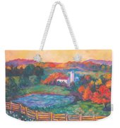 Golden Farm Scene Weekender Tote Bag