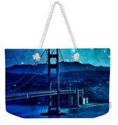 Golden Gate Bridge Night Weekender Tote Bag