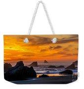 Golden Harris Beach Sunset - Oregon Weekender Tote Bag