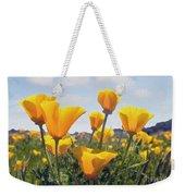 Golden Poppies Impasto Weekender Tote Bag
