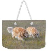 Golden Retriever Dogs On The Hunt Weekender Tote Bag