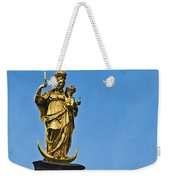 Golden Statue Of The Virgin Mary In Munich Germany Weekender Tote Bag