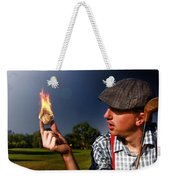 Golf Ball Flames Weekender Tote Bag