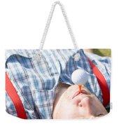 Golf Player Finding Inner Balance Weekender Tote Bag