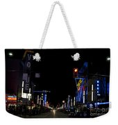 Granville Street At Night Vancouver Weekender Tote Bag
