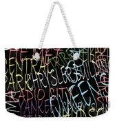 Graphic New York 3 Weekender Tote Bag