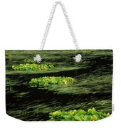 Grasses And Lilies In Beaver Pond Weekender Tote Bag