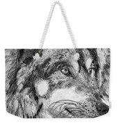 Gray Wolf Watches And Waits Weekender Tote Bag