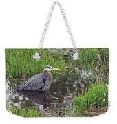 Great Blue Heron At Deboville Slough 2 Weekender Tote Bag