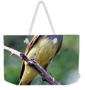 Great Crested Flycatcher With Captured Weekender Tote Bag