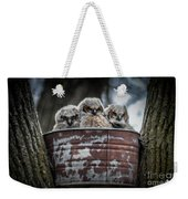 Great Horned Owl Chicks Weekender Tote Bag