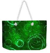 Green Bubbles Weekender Tote Bag