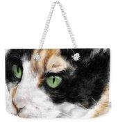 Green Eyed Cat Weekender Tote Bag