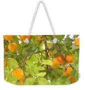 Green Leaves And Mature Oranges On The Tree Weekender Tote Bag
