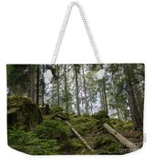 Green Untouched Forest Weekender Tote Bag