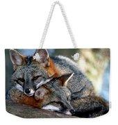 Grey Foxes Weekender Tote Bag