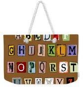 Grunge Alphabet Weekender Tote Bag