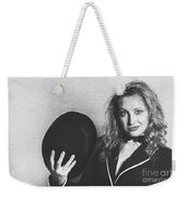 Grunge Photo Of Female Cabaret Performer Weekender Tote Bag