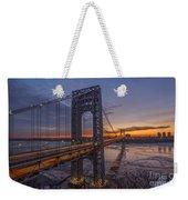 Gw Bridge Car Light Trails  Weekender Tote Bag